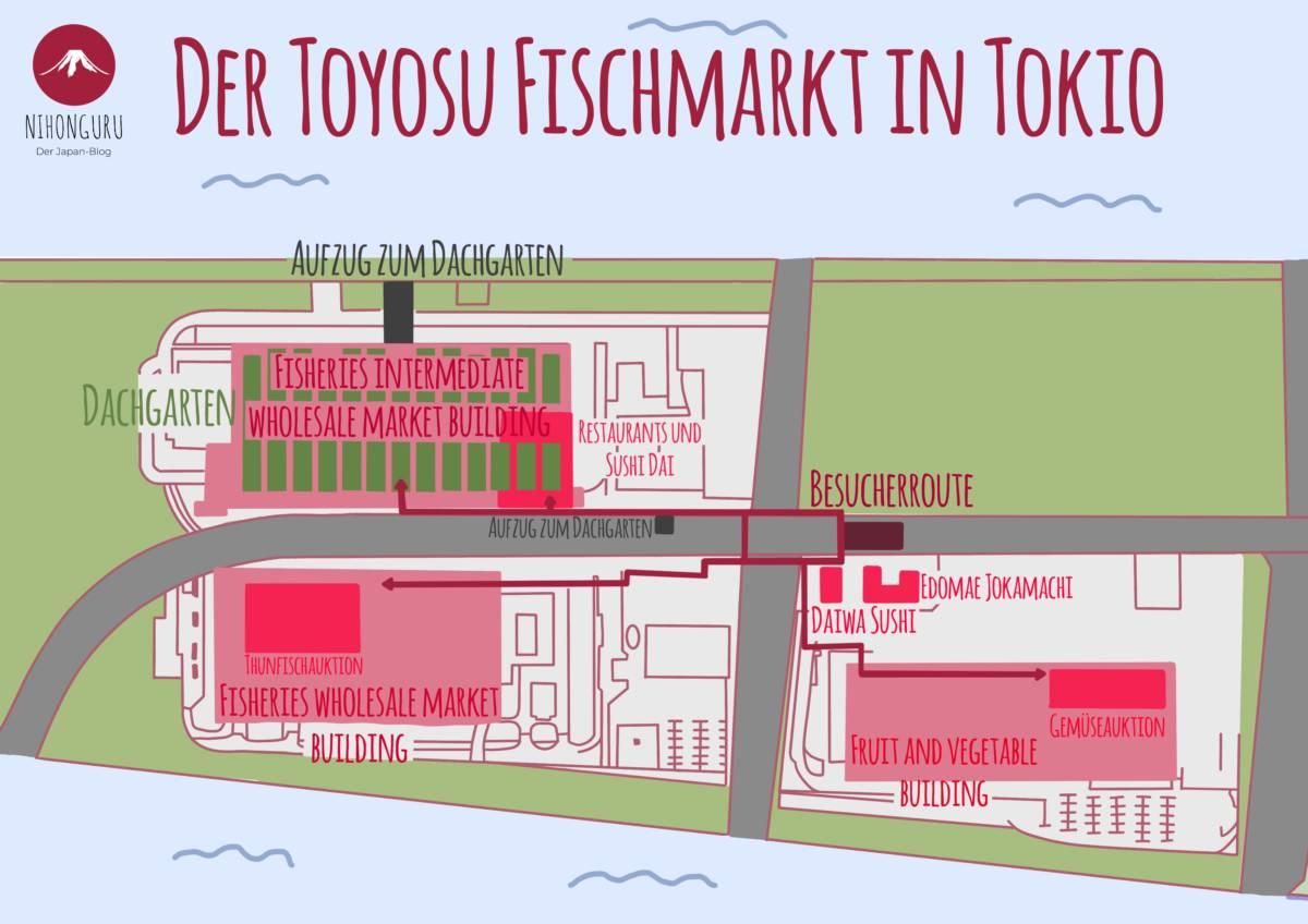 Toyosu Markst Karte Plan