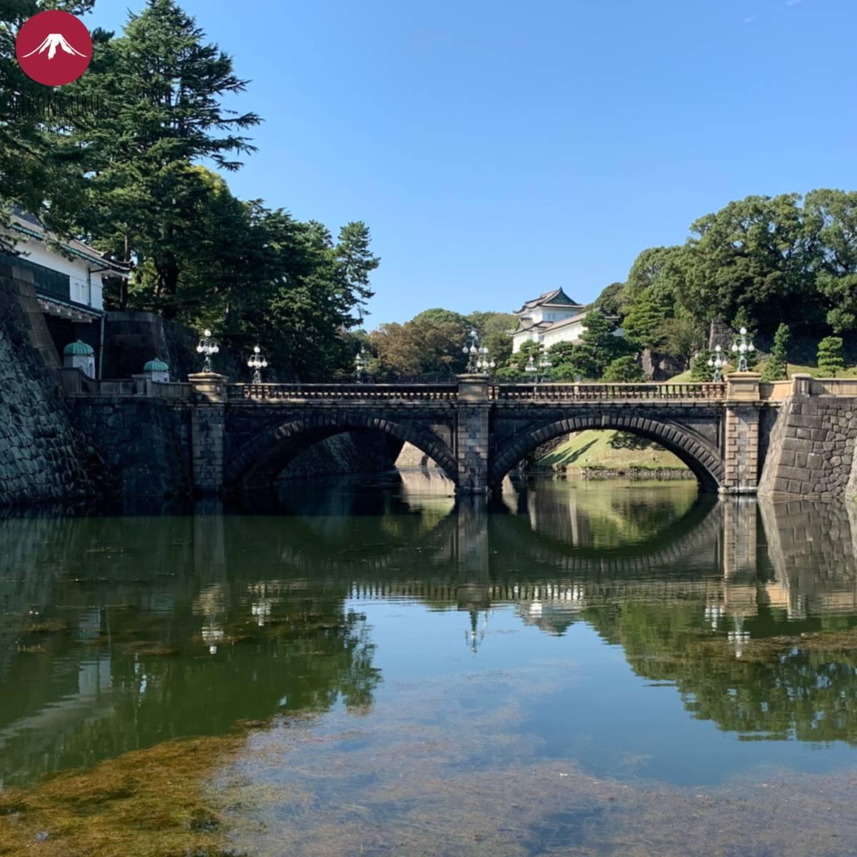 Kaiserpalast in Tokio Kaiser Palast Brücke Garten