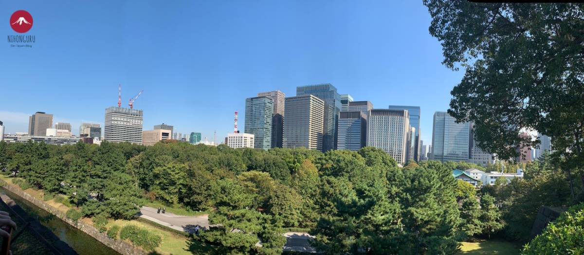 Palast Tokio Aussicht