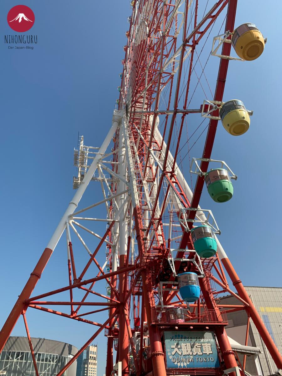 Riesenrad Tokio Dainkanransha Gondelt Odaiba Aussicht Hafen