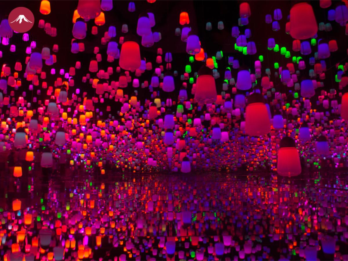 TeamLab Borderless Museum digitale Kunst Odaiba Wald der Laternen Forest of Lanterns